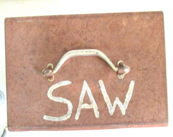 Mid-Century Metal Saw Box