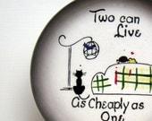 Vintage Romantic Starnes California Pottery Plate