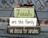 Friends stacker wood blocks-inspirational quote