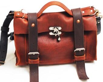 Leather purse, medicine bag, leather handbag, clutch, ipad bag, camera bag, Christmas gift  - Handmade in the U.S.A.