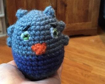 Ready to Ship * Crochet * O the Owl * Blue OWL * Stuffed Animal *  Plush Toy * Doll * Baby Safe * Nursery Decor * Simple Toys