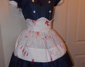 Custom Made to Order Bloody and Ripped Bio Shock Little Sister Dress and removable apron
