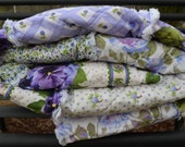 Rag Quilted Large Throw, Lavender, Lilac, Purple Pansy