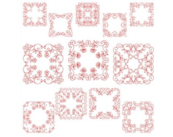 QUILT BLOCKS 2 - Machine Filled Embroidery - Instant Digital Download