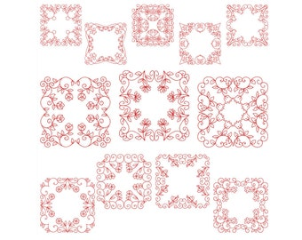 QUILT BLOCKS 2 - Machine Embroidery - Instant Digital Download