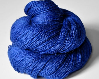 Completely shattered cobalt glass  - BabyAlpaca/Silk Lace