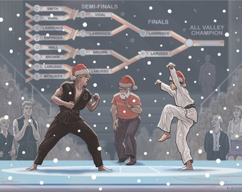 Karate Kid Christmas Card