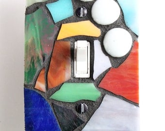 Multi Color - Single Mosaic Light Switch Cover Wall Plate