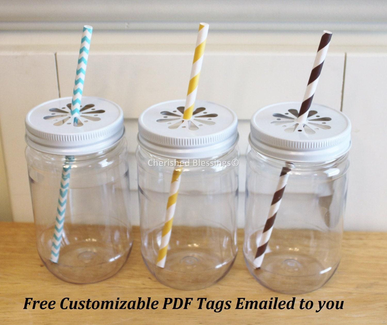 Plastic Mason Jars 10 Plastic Jars Mason Jar By