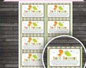 Dinosaur Baby Shower Book Request Cards Printable - Instant Download - Book Request Card - Boy Baby Shower Insert Card - Invitation Inserts