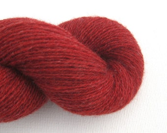 Lace Weight Recycled Cashmere Yarn, Brick Red, 480 Yards, Lot 021114