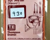 930 CHINESE RED - 8 oz Dry Powder Form Liquid Enamel