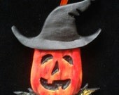 Pumpkin Witch Halloween/Christmas Ornament