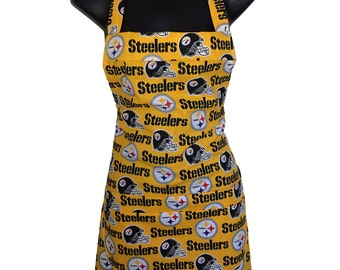 Pittsburgh Steelers His or Her Apron // NFL Apron // Unisex // We have other NFL teams