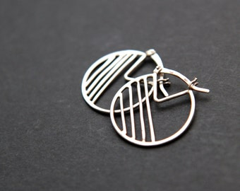 Sterling silver simple earrings