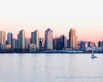 San Diego  Photography Cityscape Photography San Diego Skyline Sunset photography Fine Art Photography Print