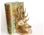 Vintage Brass Deer Bookend