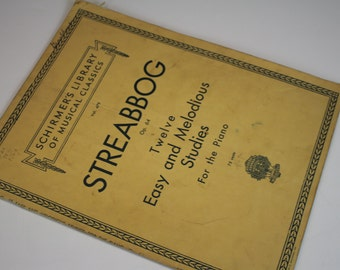 Vintage Sheet Music for Piano - Streabbog Op. 64 - 1904
