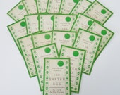 20 Vintage Unused Pick Your Girl Win 1LB Easter Egg Punch Card Game--FREE SHIPPING