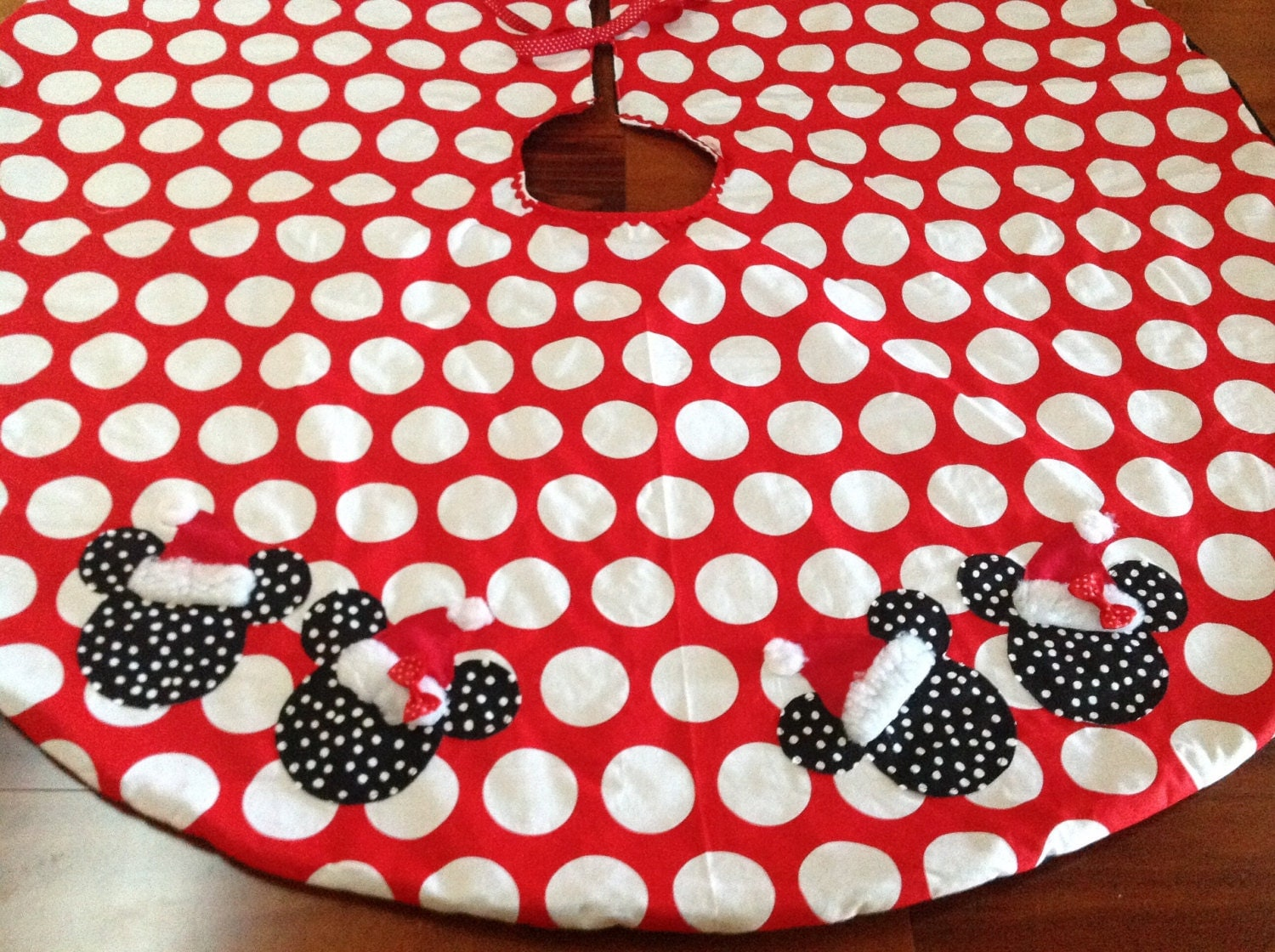 Boutique Minnie Mickey Mouse Christmas Tree Skirt By