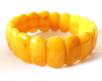 """Baltic Amber Antique Butterscotch Bracelet Yolk 7.5"""" 17.3 gram"""