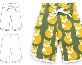 Retro pants sewing pattern for kids // pdf download // photo tutorial // 0M-6T // #18