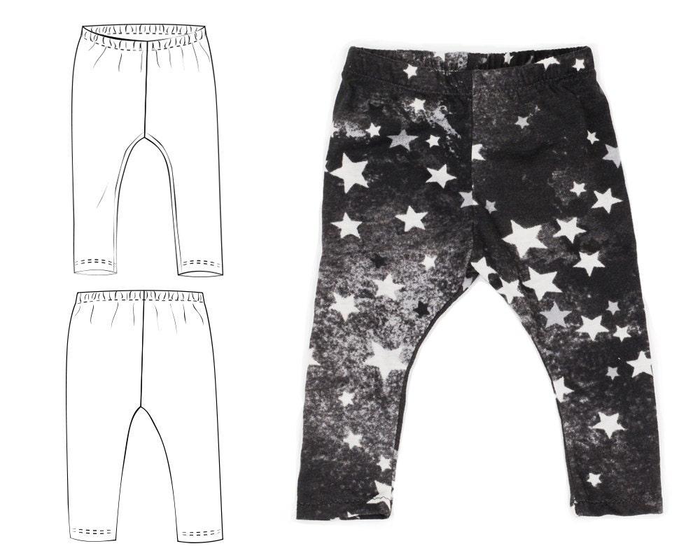 Baby leggings pattern pdf instant download sizes Preemie to