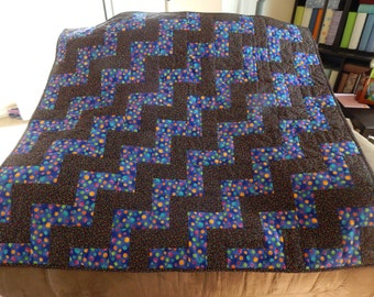 Blue Black Dotted Kid Quilt