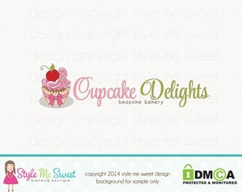 cupcake logo design bakery logo design baking logo design bakers logo design premade logo design graphic design bespoke logo design