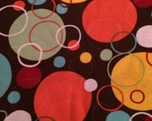 Brown Retro Dots Fabric - BTY
