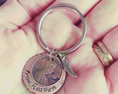 Copper Hand Stamped Penny from Heaven Key Chain