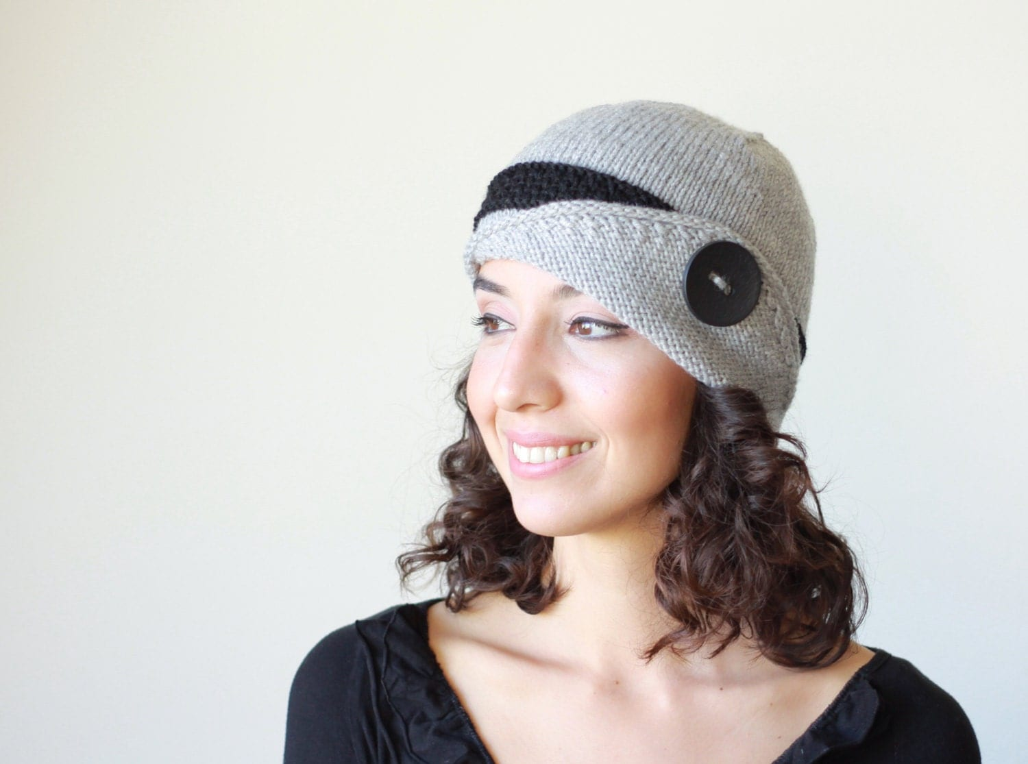 Knitting Hat For Women : Grey knit hat womens lucy winter beanie