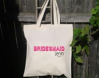 Bridesmaid Gift Bags - Wedding Tote Bags - Wedding Party Girft Bag