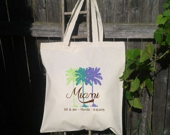 Palm Tree Wedding Welcome Tote -Bridesmaid Favor Tote