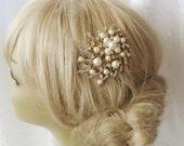 Golden Comb Bridal Hair Comb Bridal Hair Clip Wedding Headpiece Crystal Rhinestone Bridal Hair Accessories