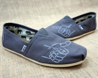 Men's Thumbs Up Custom TOMS Shoes