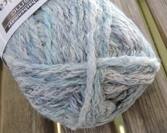 WORSTED or ARAN Weight Yarn - Sky Mix (103) - Acrylic New Wool Blend - 50g - 131 yards - Schachenmayr Aventica