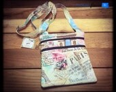 Two Zip Slim Crossbody Bag