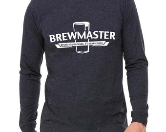 Brewmaster - Homebrew Craft Beer Long Sleeve T-Shirt -  Christmas Oktoberfest Birthday Father's Day Gift
