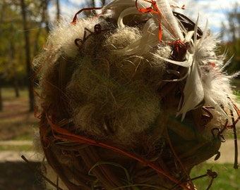 Feather-Your-Nest Nesting Ball Kit -Vermont Supplies, Easy to Assemble Bird-friendly Project