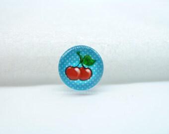 10pcs 12mm Handmade Photo Glass Cabochons (Cherry/Apple )  GB44-33
