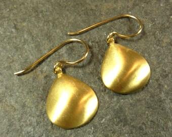 Golden glow Sea Shell earrings in14K gold vermeil