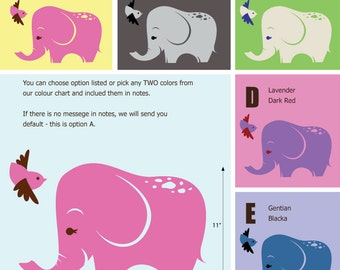 Baby Elephant Wall Sticker - African Wall Stickers - Jungle Safari Wall Decals