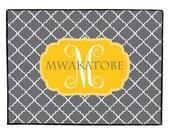 Personalized Door Mat, Monogram Welcome Mat, Custom Door Rug, Personalized Doormat, Monogrammed Door Mat, Custom Doormat, Clover Door Mat