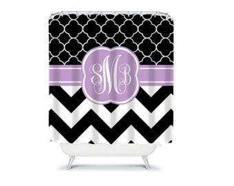 Personalized Shower Curtain  Monogram Shower Curtain  Design your Own