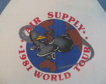 AIR SUPPLY 1981 tour TSHIRT