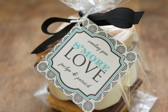 Wedding Favor Tag Kit : 24 Smores Wedding Favor Kits Any Tag Design by thefavorbox