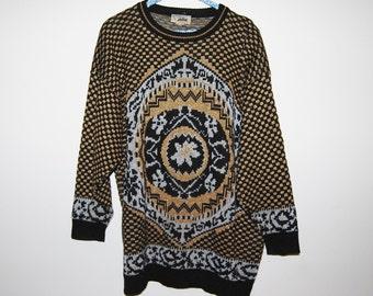 Vintage Sweater Hipster Baroque Jolie