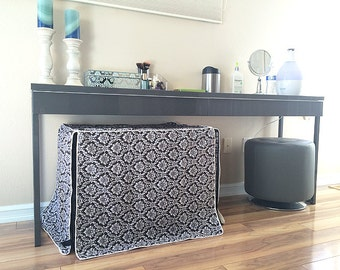 Modern Brown Damask Designer Dog Pet Wire Kennel Crate House COVER ONLY Many SIZES Available to Choose Perfect Gift Ideas