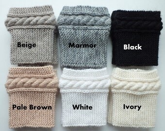Cashmere Boot Cuffs, Hand Knit Boot Cuffs Cashmere-Kidmohair Blend Yarn Choose Your Color And Size